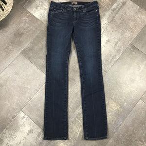 Paige Denim Peg Straight Dark Wash Jeans